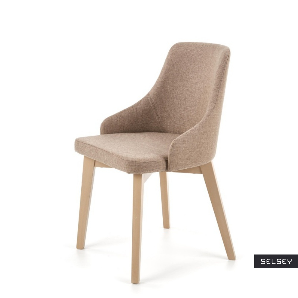 Krzesło Vilaver beżowe - dąb sonoma