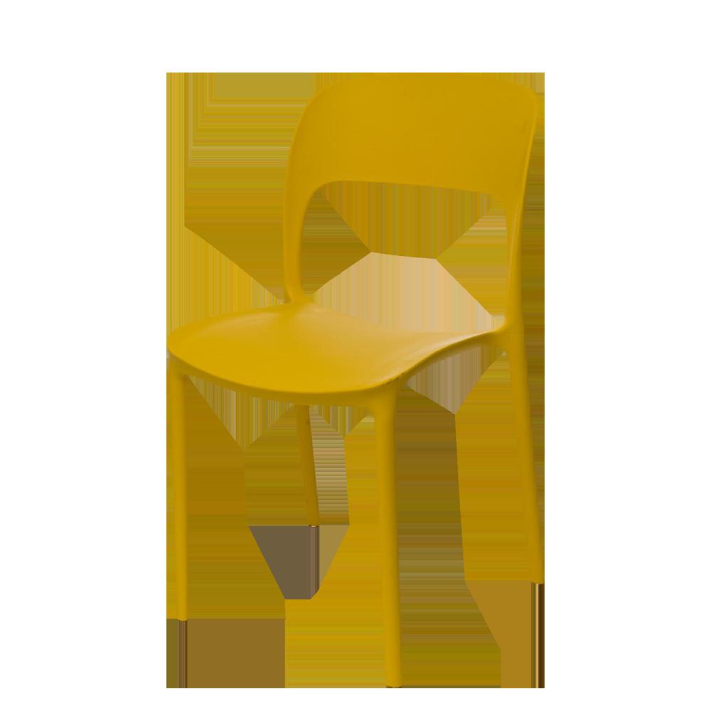 Krzesło Ferjes żółte