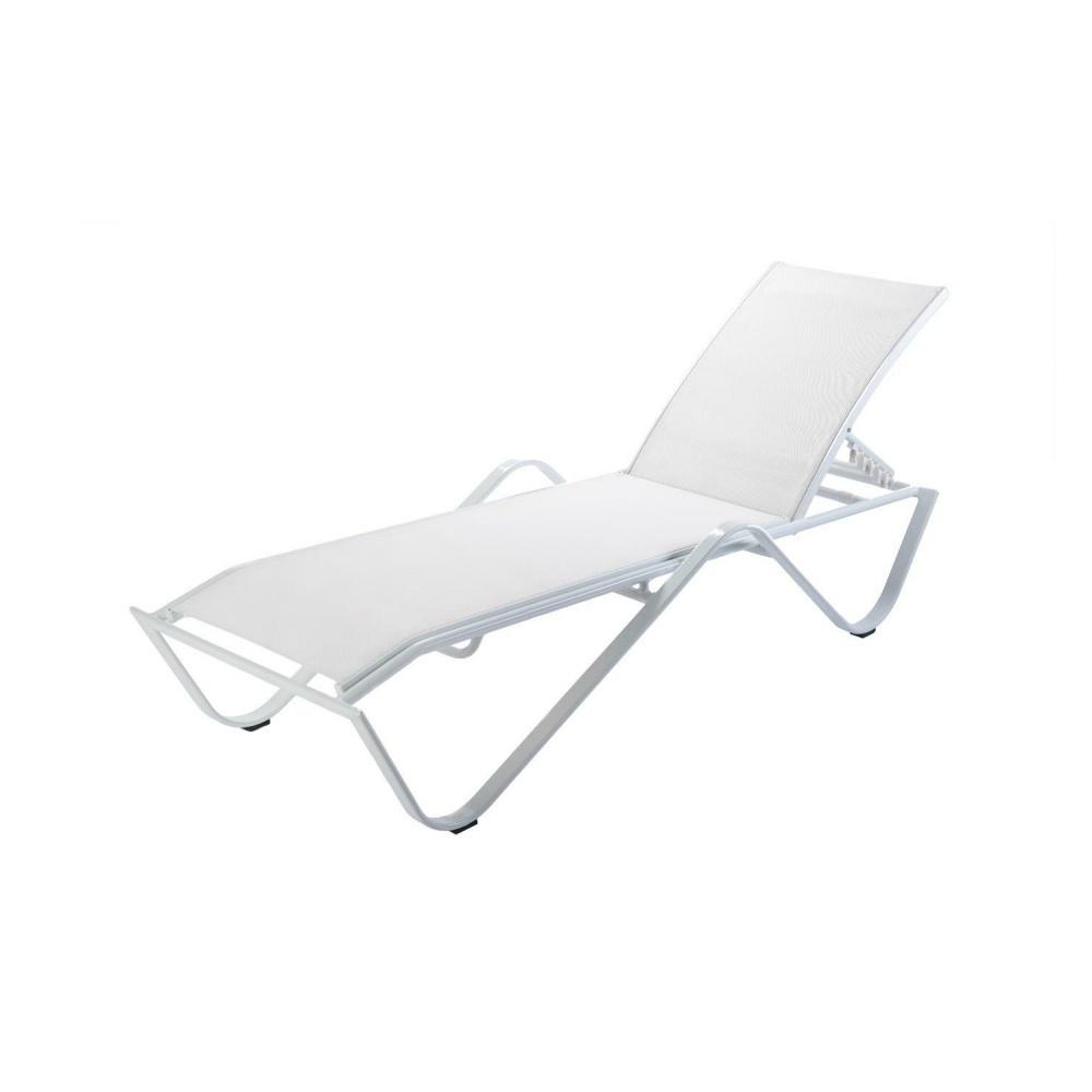 Leżak ogrodowy Sand biały