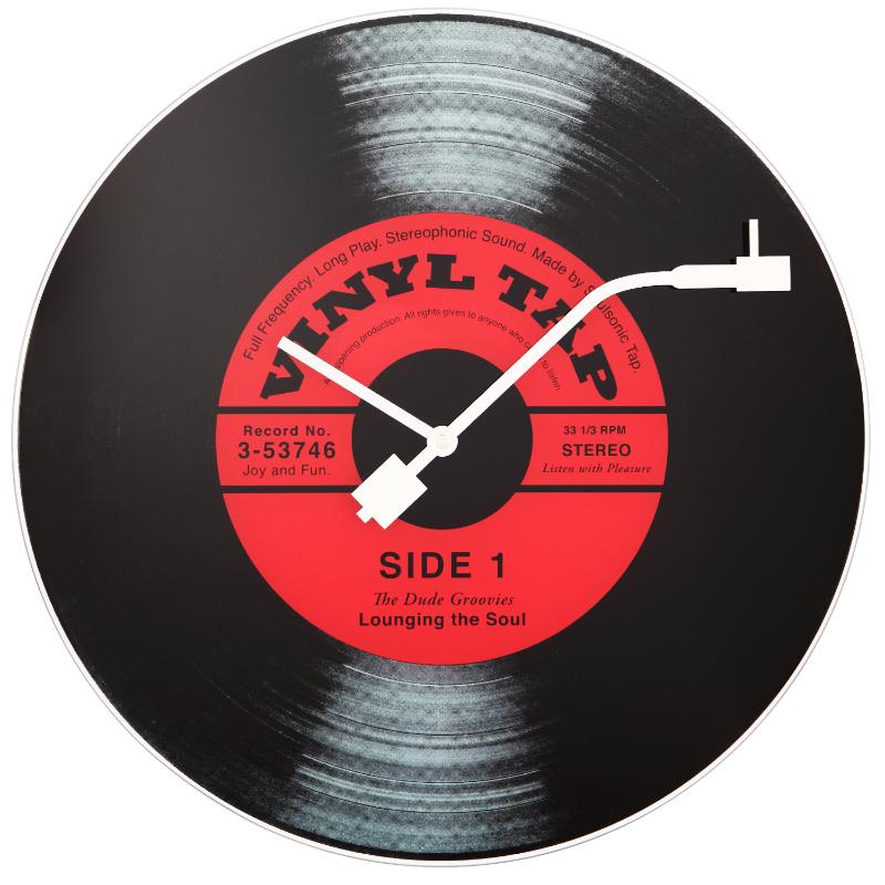 Zegar szklany Vinyl Tap średnica 43 cm