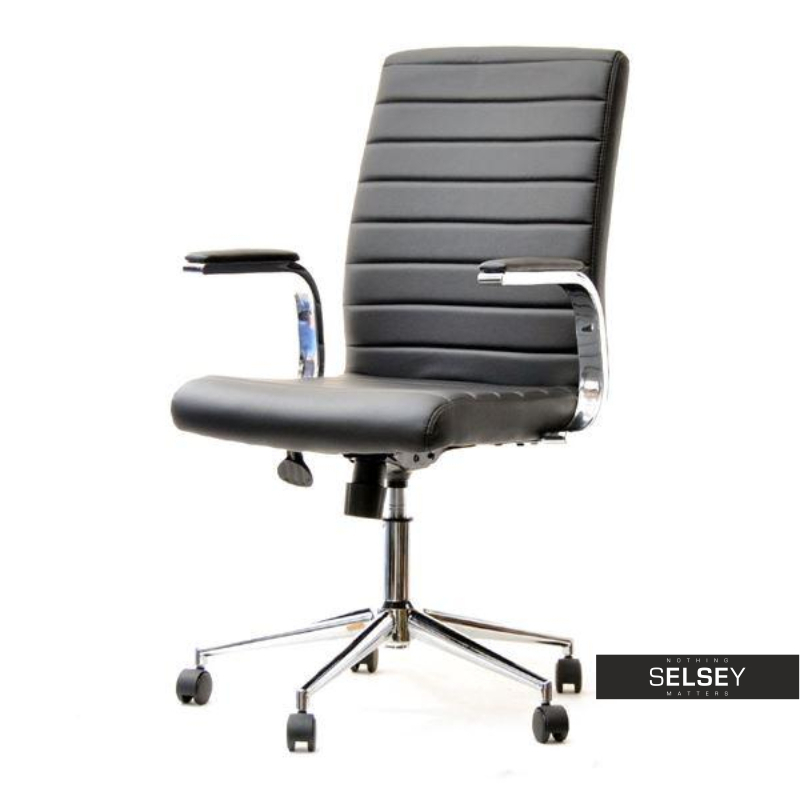 Fotel biurowy Cruz czarny obrotowy