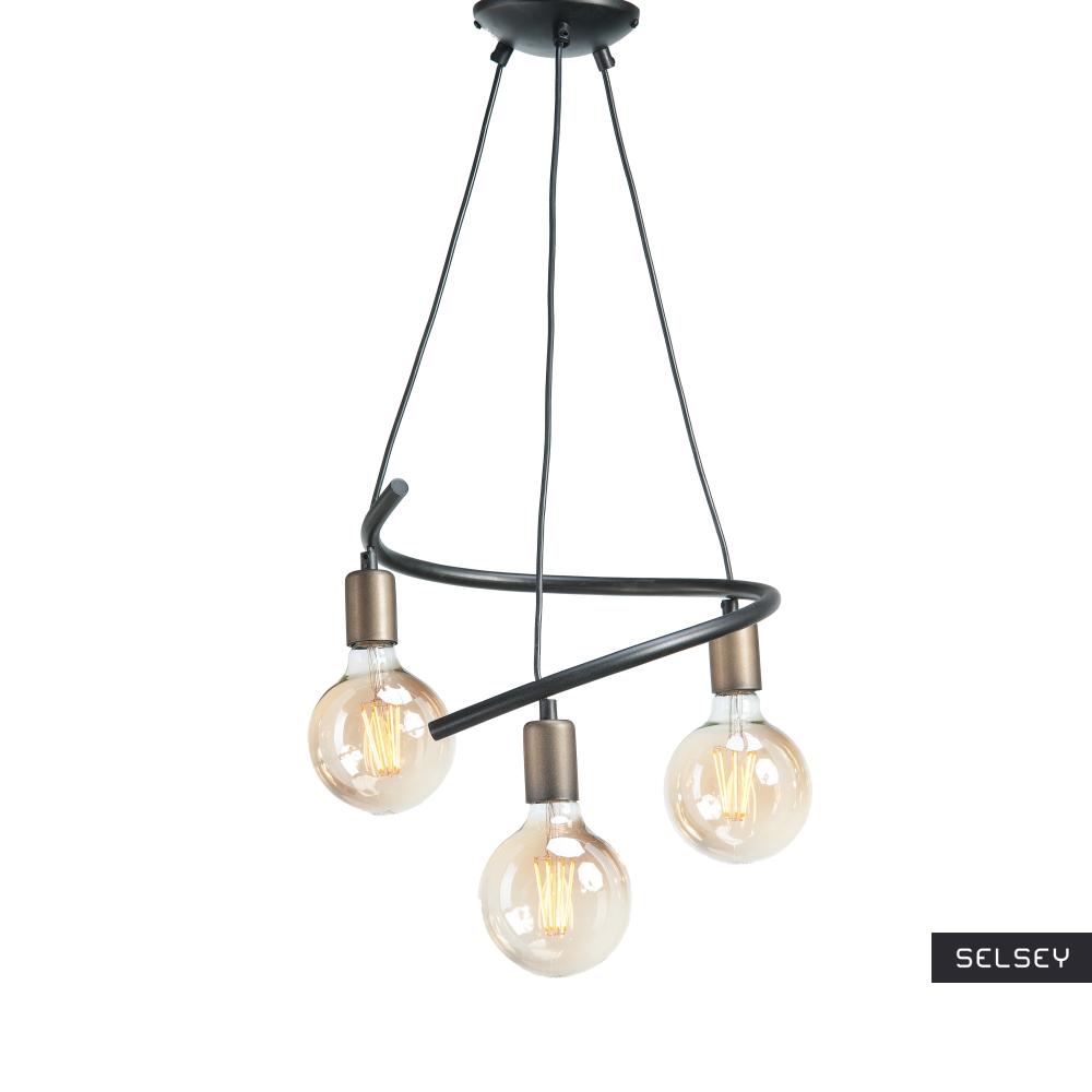 Lampa wisząca Maralku x3 zygzak