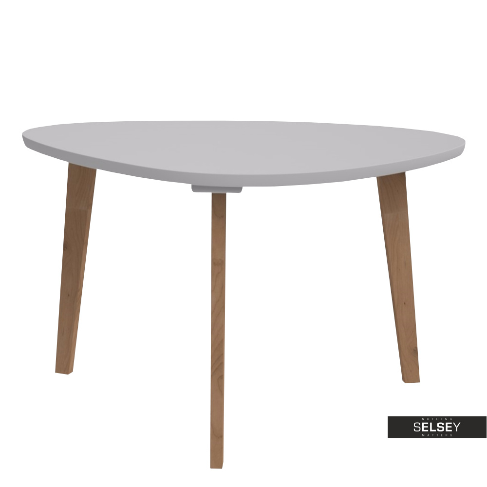 Stolik kawowy Norman 80x70 cm trójkątny z szarym blatem