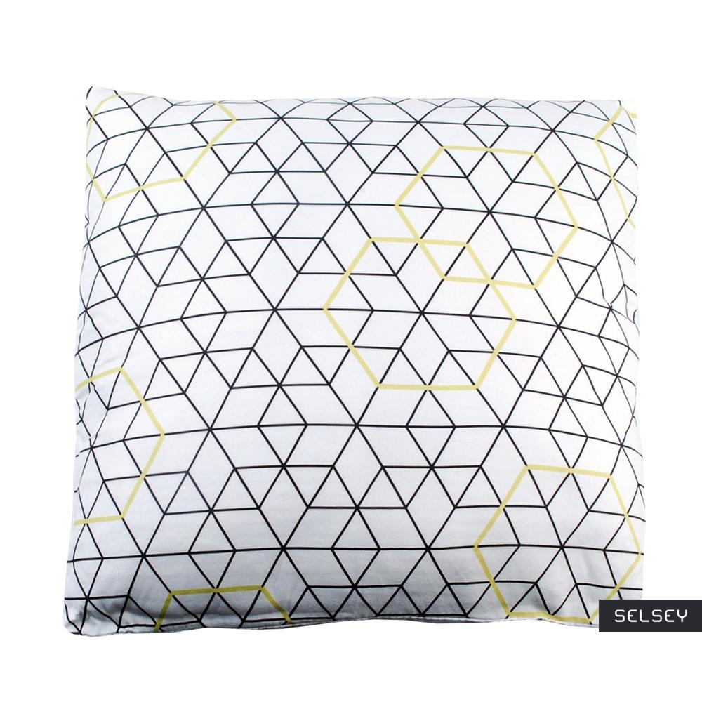 Poduszka z poszewką Hexagon 40x40 cm