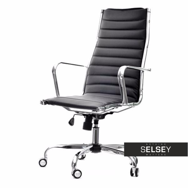 Fotel biurowy Berlin czarny inspirowany Eames Eiffel