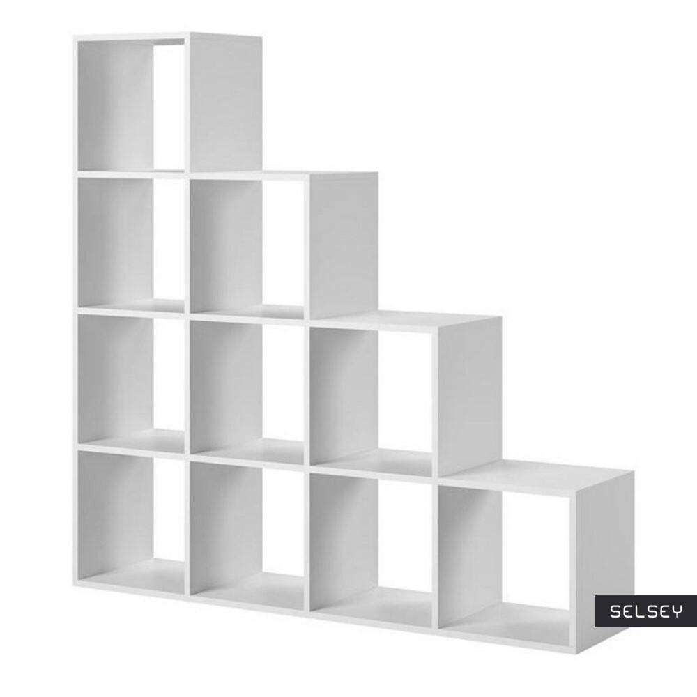 Regał schodkowy Lakkena Biały