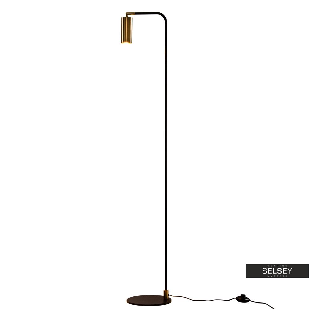 Lampa podłogowa Yerba czarno złota 140 cm