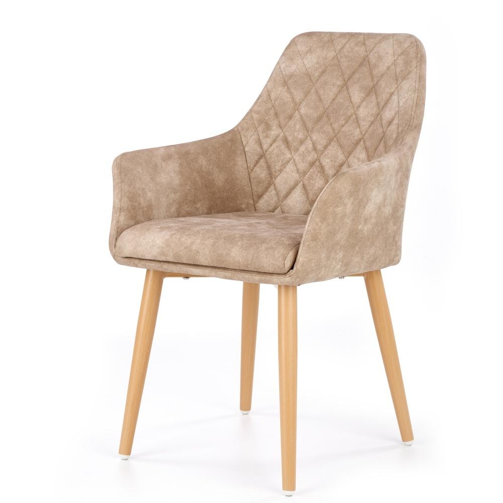 Krzesło Moita ecoskóra beżowe