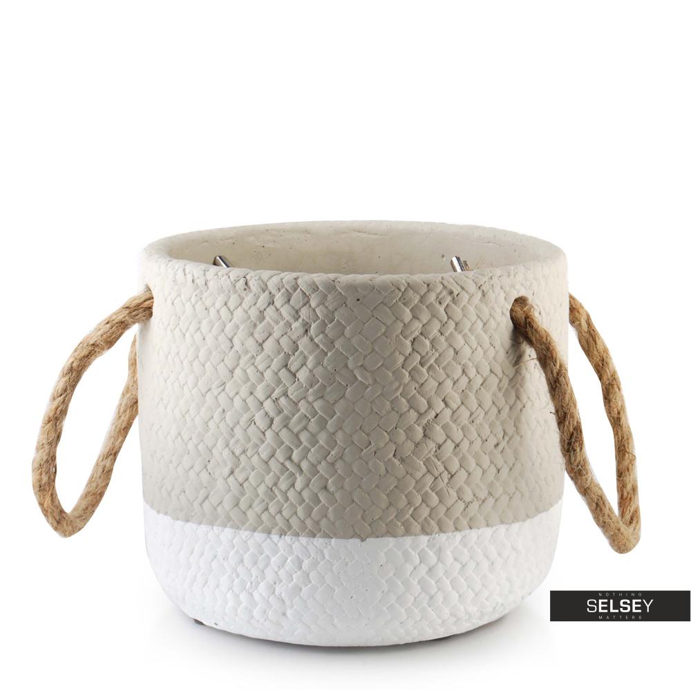 Doniczka Deserto o średnicy 15,5 cm szaro-biała