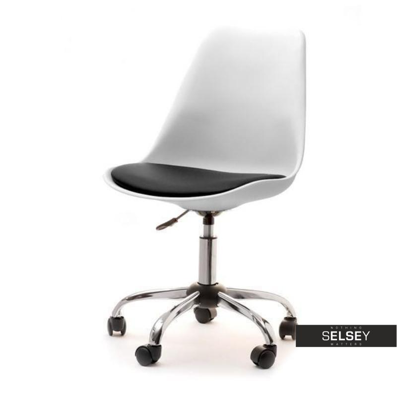 Fotel biurowy Luis move biało - czarny  obrotowy