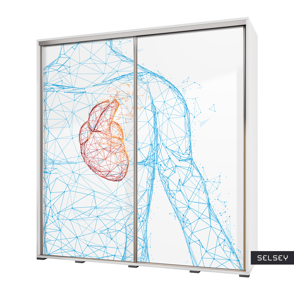 Szafa Wenecja 205 cm Geometryczna anatomia