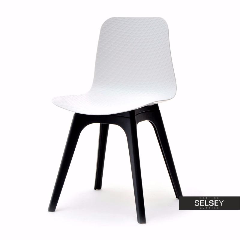 Krzesło Caro DSX biało-czarne z tworzywa