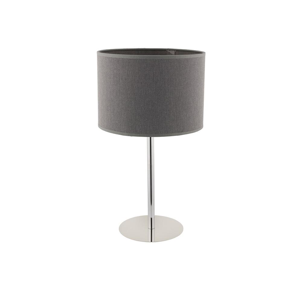 Lampa stołowa z abażurem Hotel szara 9301
