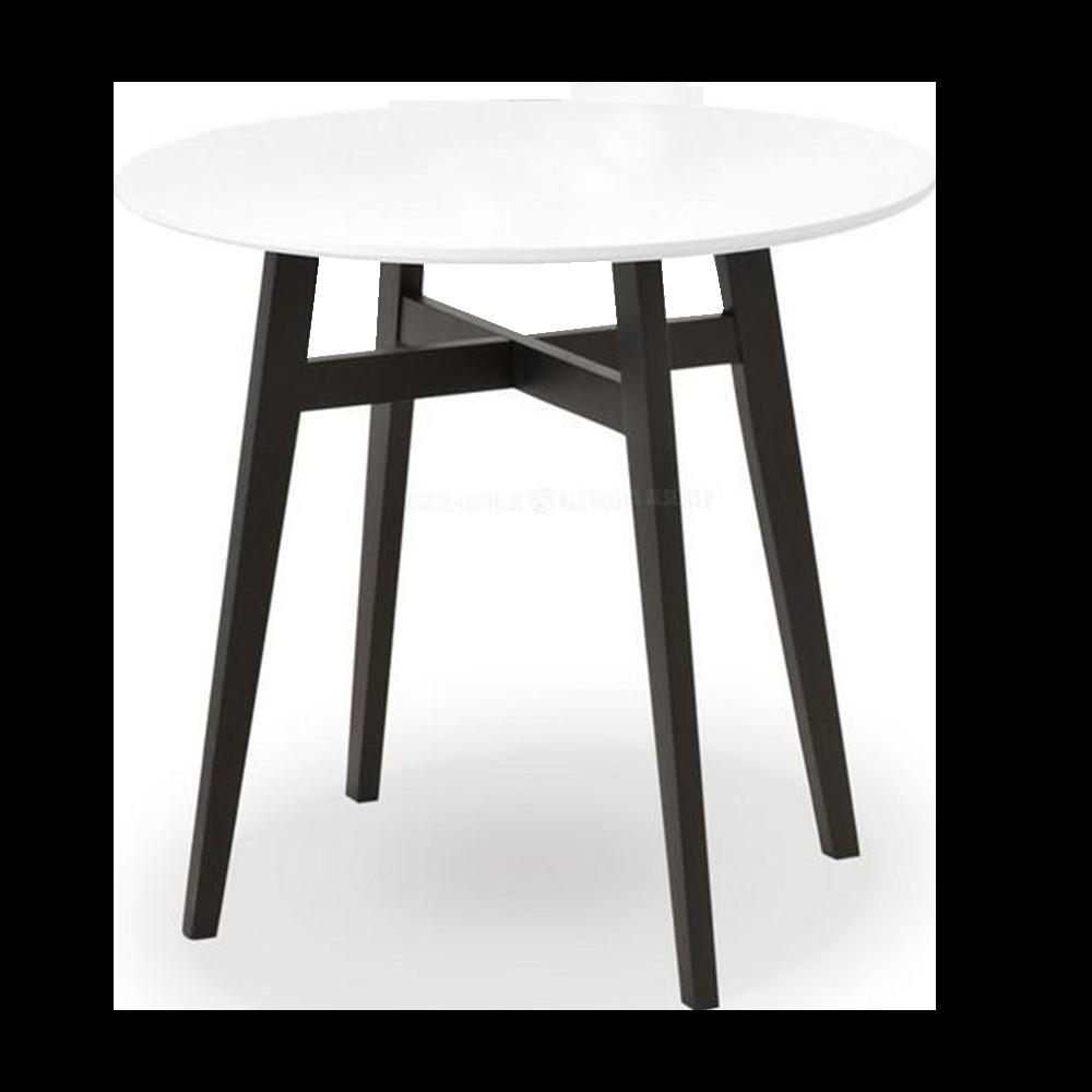 Stół Cross średnica 80 cm biało - czarny