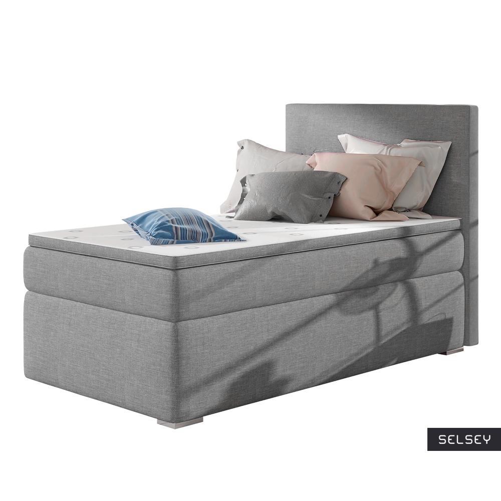 Łóżko kontynentalne Mechico jasny szary