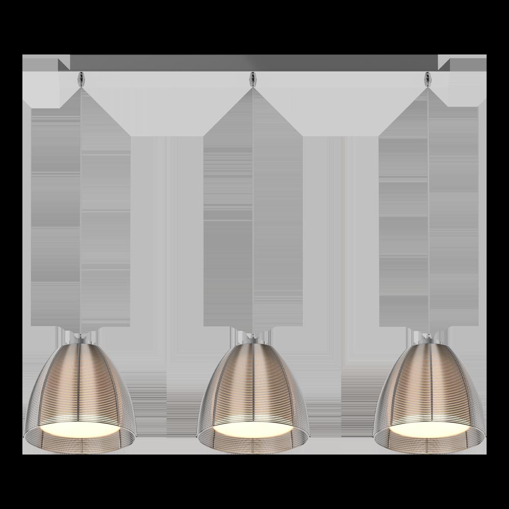 Lampa wisząca Allen srebrna x3