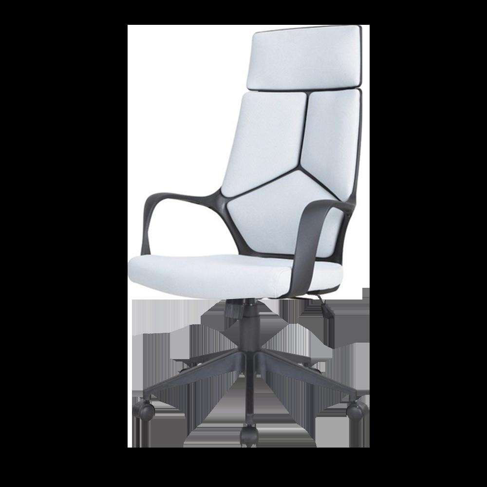 Fotel biurowy Quinto szaro - czarny