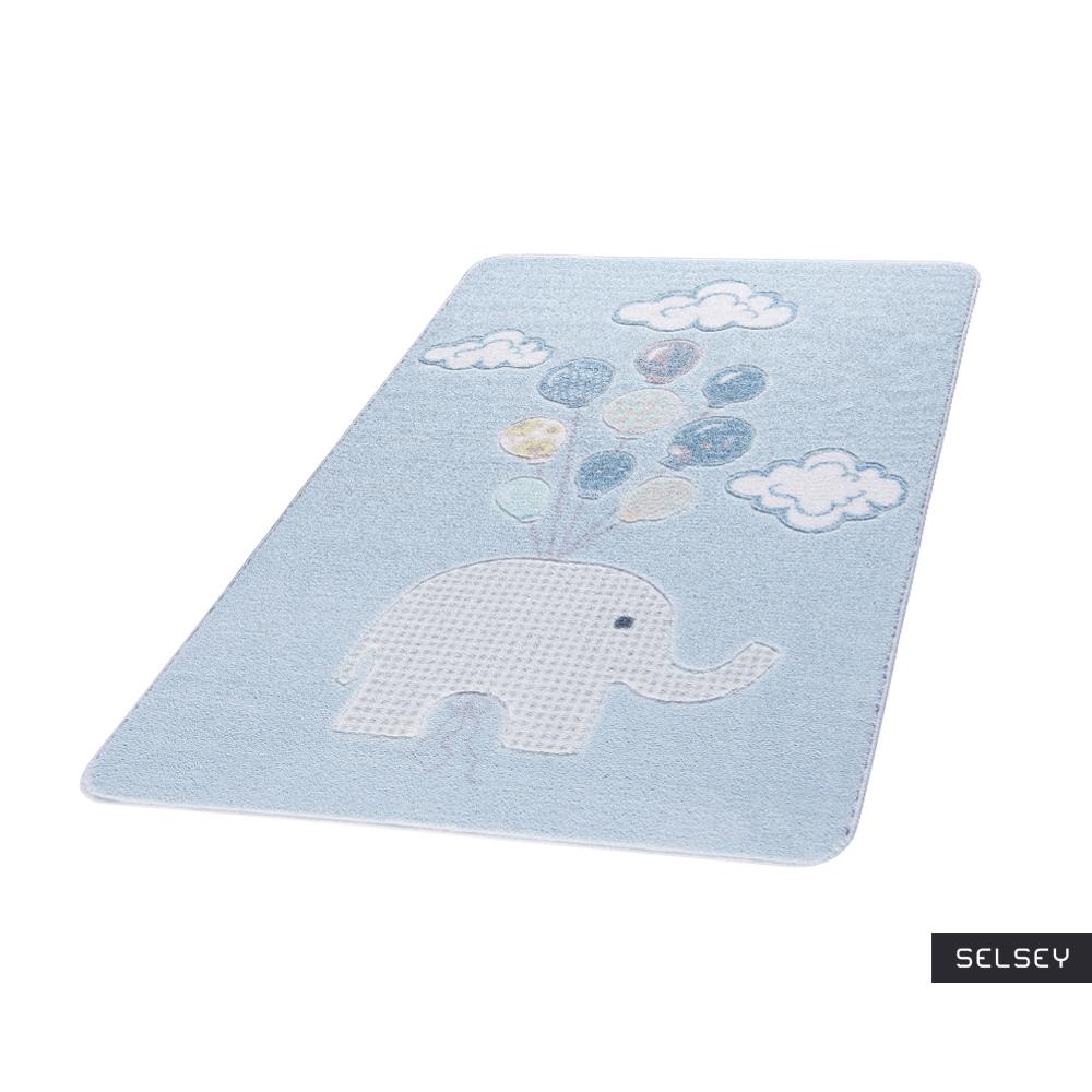 Dywan Lot słonia błękitny 133x190 cm