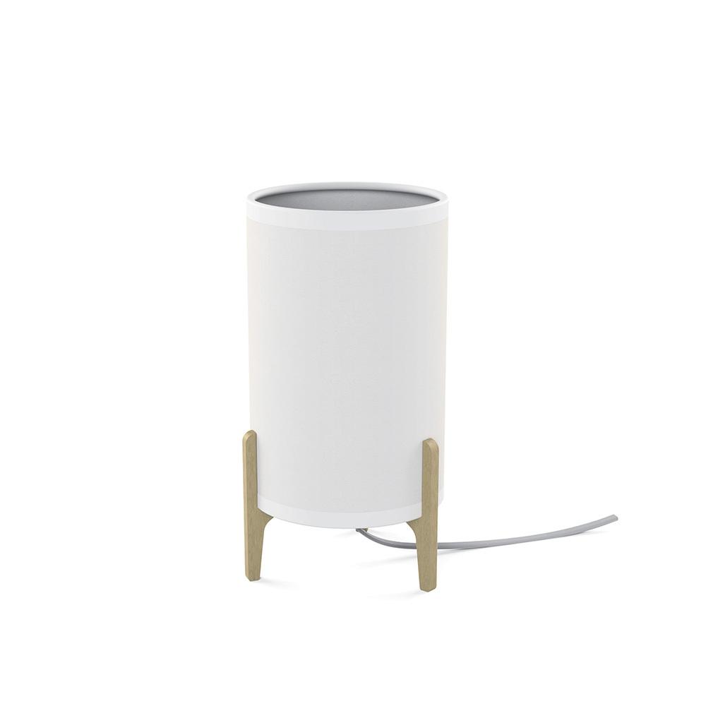 Lampa stołowa z abażurem Rocket biała 8490