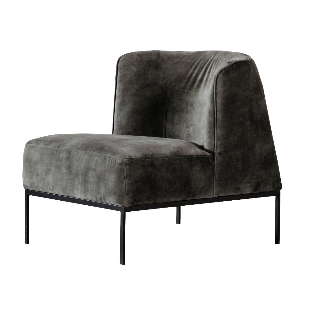 Fotel tapicerowany Ariko ciemnozielony w tkaninie wodoodpornej