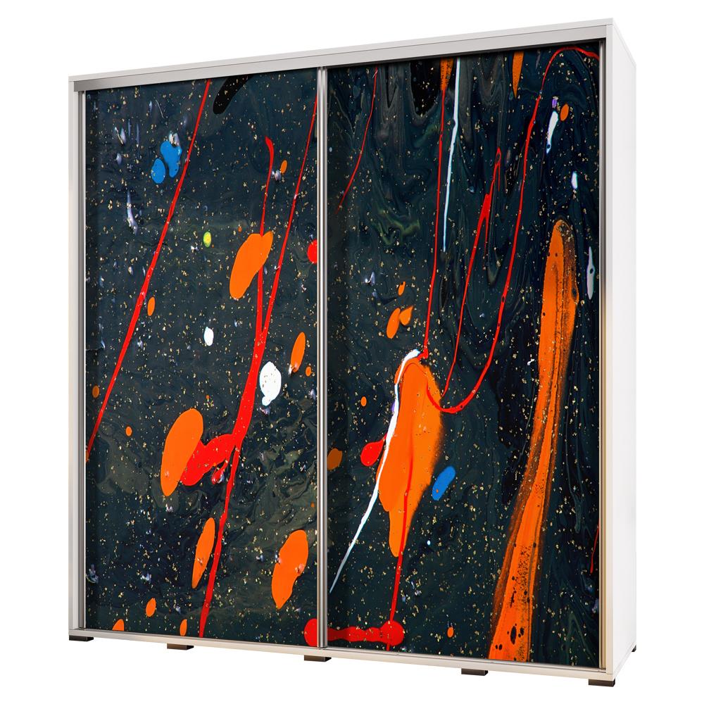 Szafa Wenecja 205 cm Abstrakcja ognista