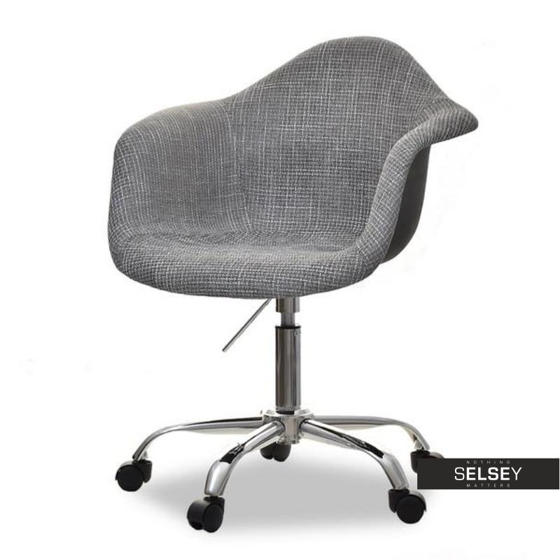 Fotel biurowy MPA move tap szary elegancki na kółkach