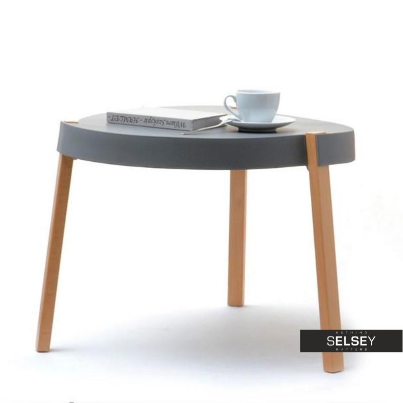 Stolik kawowy Twist szary średnica 61 cm z tworzywa
