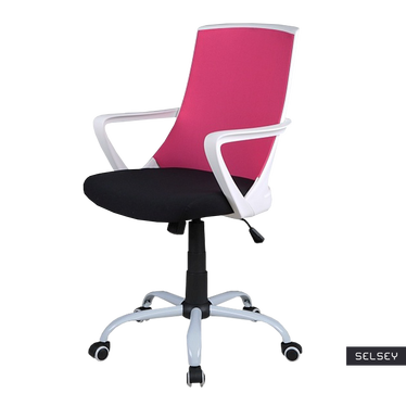 Fotel biurowy Genner różowy