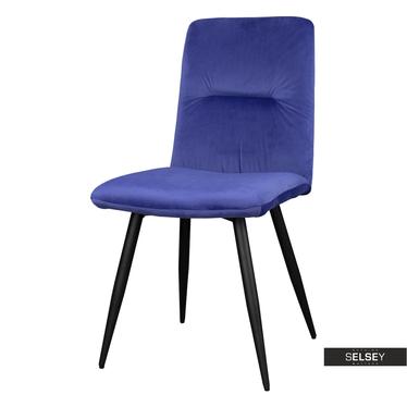 Krzesło Mosterio niebieski velvet