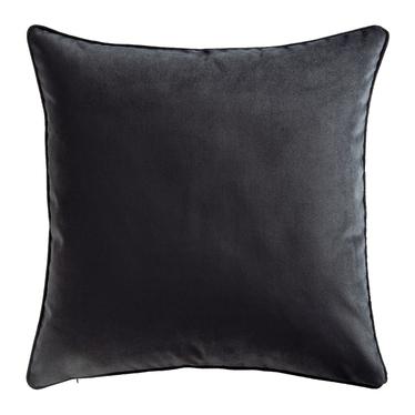 Poduszka dekoracyjna Myrrhis w tkaninie PET FRIENDLY 45x45 cm czarna z kedrą