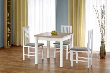 Stół rozkładany Lea 80-160x80 cm biały-dąb sonoma