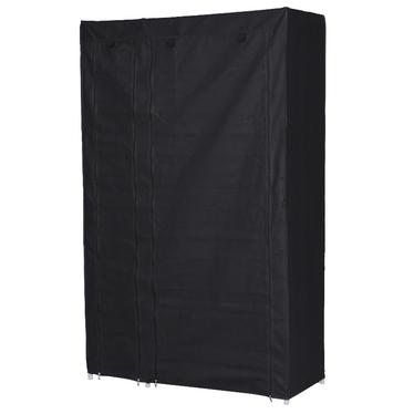 Szafa Tissu czarna z półkami