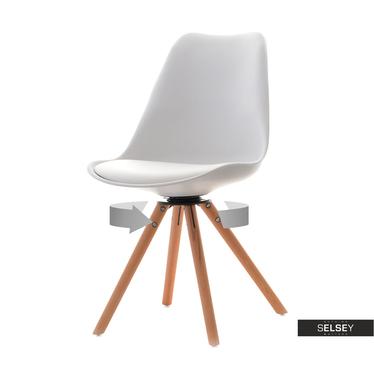 Krzesło Luis rot  białe obrotowe