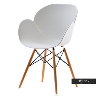 Krzesło Swan wood białe