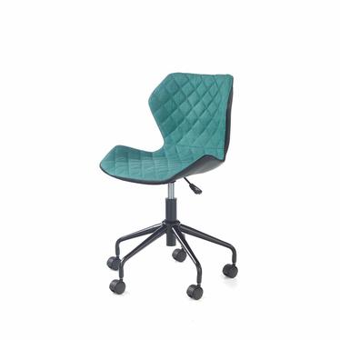 Fotel biurowy Kall czarno-turkusowy