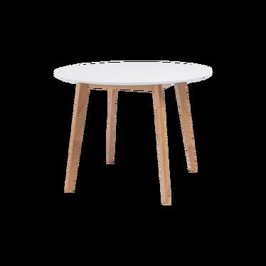 Stół Ikast średnica 100 cm z białym blatem