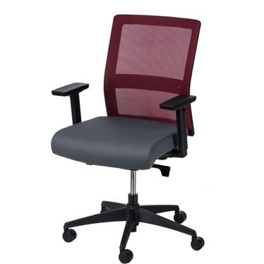 Fotel biurowy Press czerwono-szary z obrotowym siedziskiem