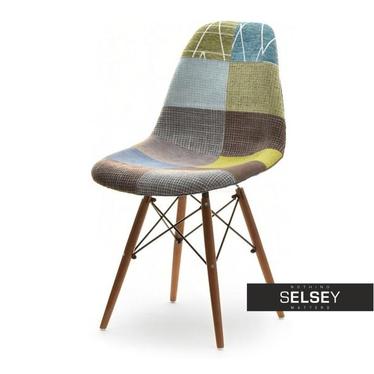 Krzesło MPC wood tap patchwork 3 - orzech