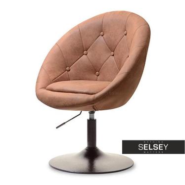 Fotel Lounge 3 brązowy obrotowy