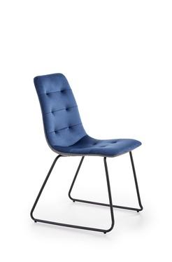 Krzesło tapicerowane Estelo granatowe tapicerowanie