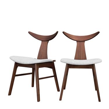 Zestaw dwóch krzeseł drewnianych Henrico szare