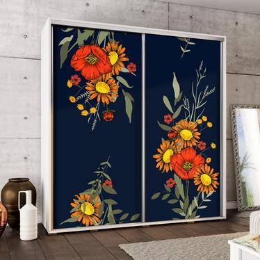 Szafa Wenecja 205 cm Malowane bukiety