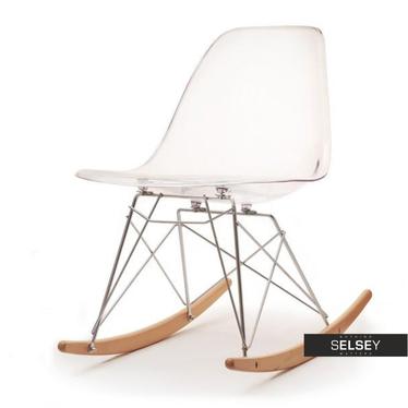 Krzesło bujane MPC roc transparentne na płozach