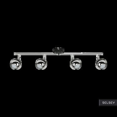 Lampa sufitowa Ceylon czarna x4