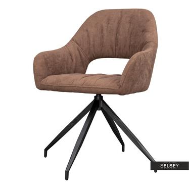 Krzesło Naball obrotowe brązowe