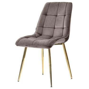 Krzesło tapicerowane Briare szaro - złote