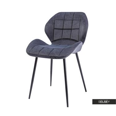 Krzesło Collo grafitowe podstawa prosta