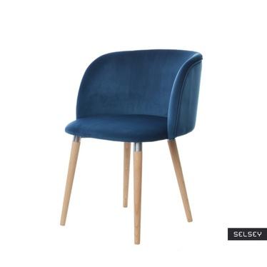 Krzesło Lunnax niebieskie