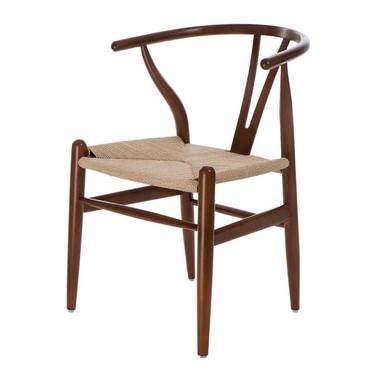 Krzesło Wicker brązowe