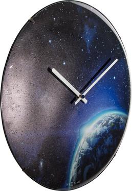 Zegar szklany Globe Dome średnica 35cm fluorescencyjny